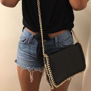 Handbags - Stylish Gold Chain Cross Body Bag